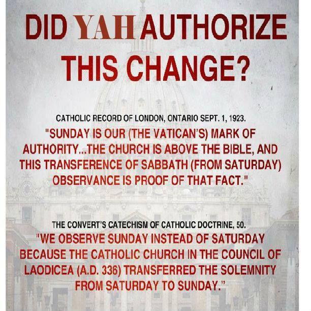 Did YAHUAH Authorize This Change? | Bible truth, Bible facts