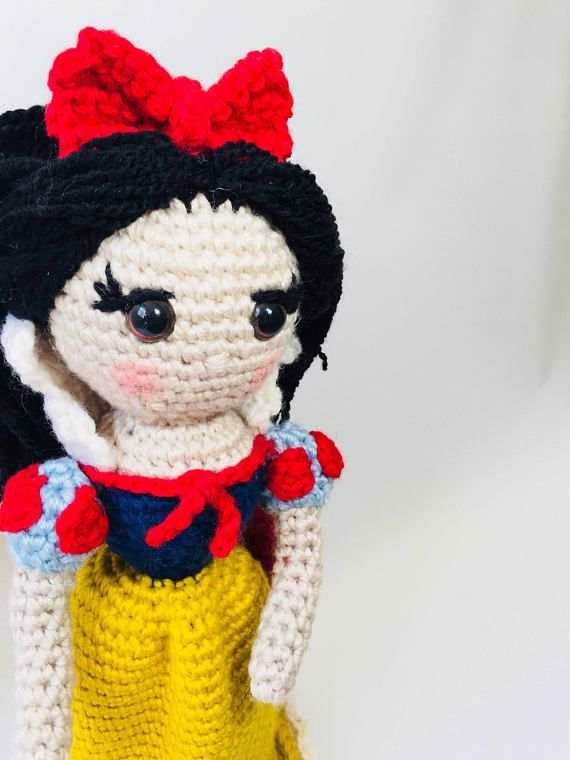 Crochet Pattern Snow White Plush Doll Princess Crochet Pattern