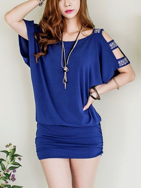 Brilliant Blended Batwing Casual-dress