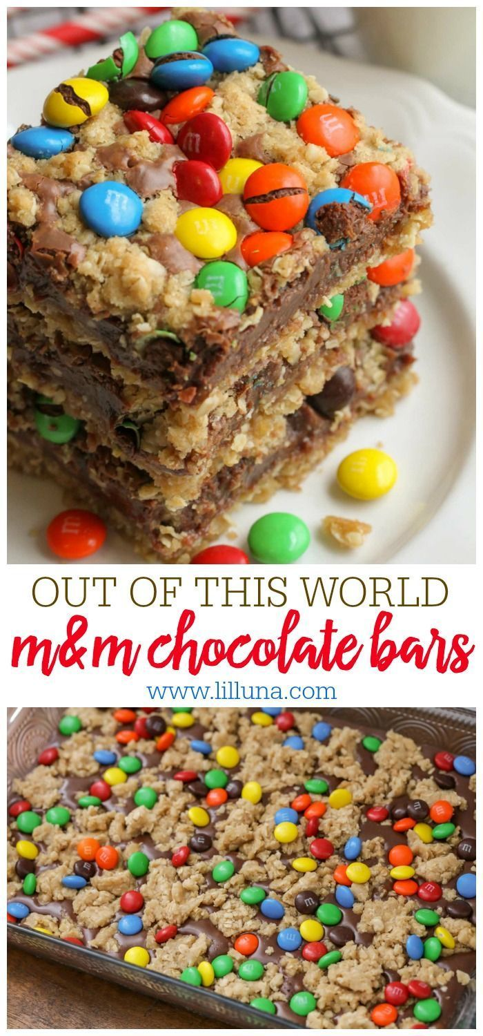 One of the best bar recipes you'll ever try!! These M&M Chocolate Oat bars h One of the best bar recipes you'll ever try!! These M&M Chocolate Oat bars h... -