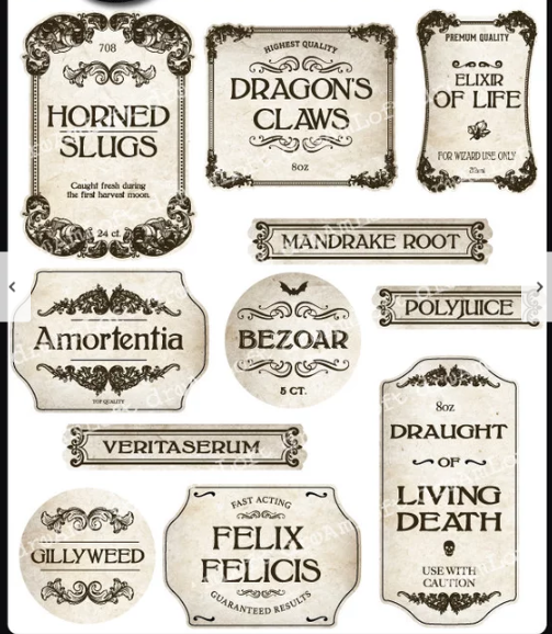 image relating to Harry Potter Apothecary Labels Free Printable referred to as Potion Labels Do-it-yourself Crafts Harry potter, Harry potter