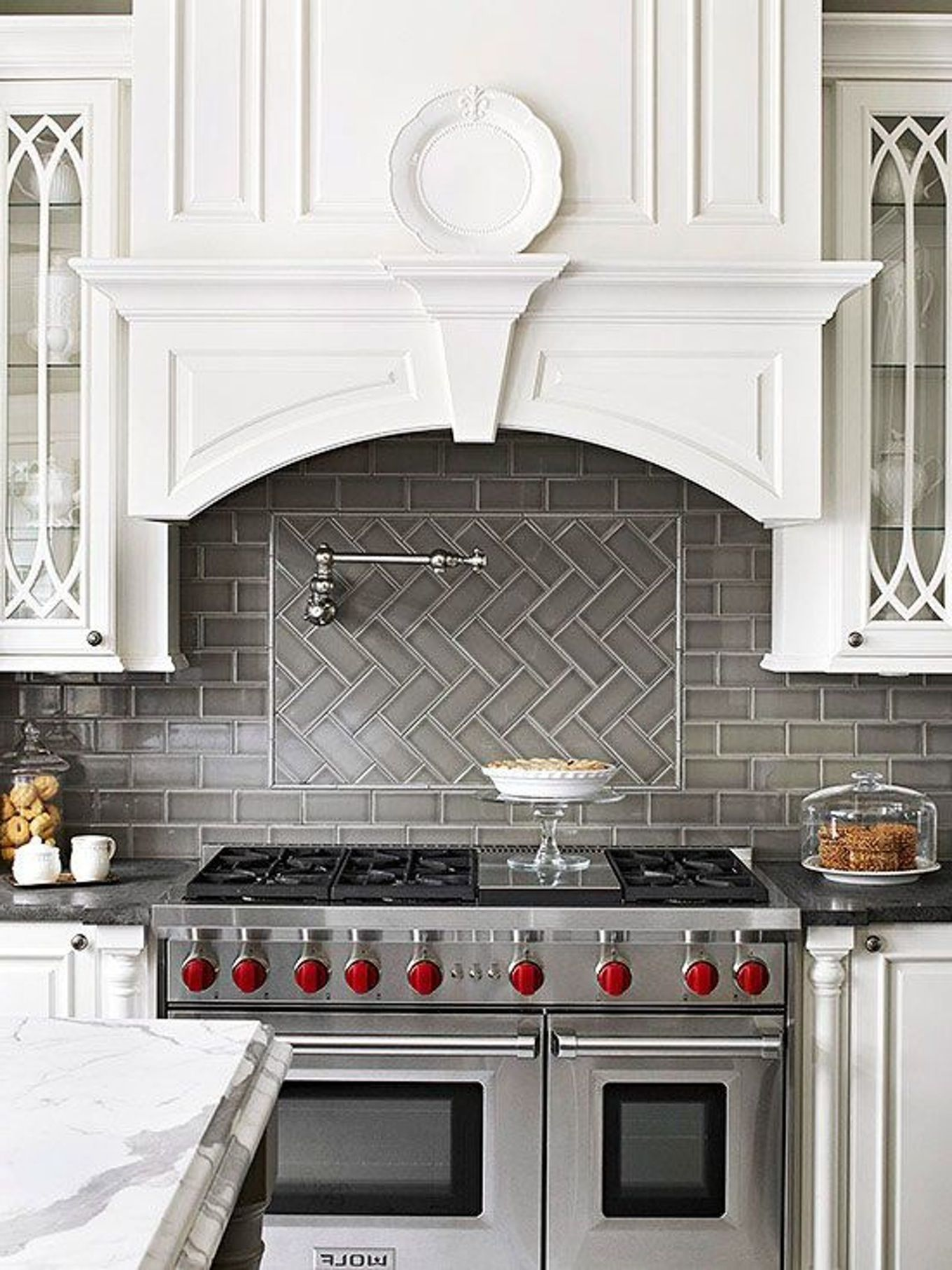 Interesting Kitchen Decorating Ideas with Elegant Lowes Tile ...