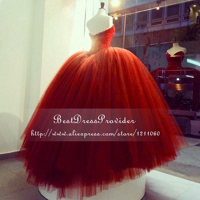 Deslumbrante vestido de Baile Árabe Vestidos de Baile 2016 Querida Decote Frisada Curto Frente Longa Voltar Puffy Longo Vermelho do baile de Finalistas do Vestido