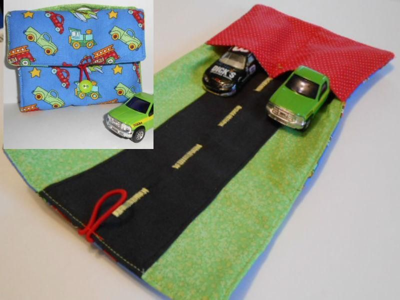 Mini Toy Car Tote Sewing Pattern  What a great stocking stuffer or birthday party favor!  My first pattern for sale.