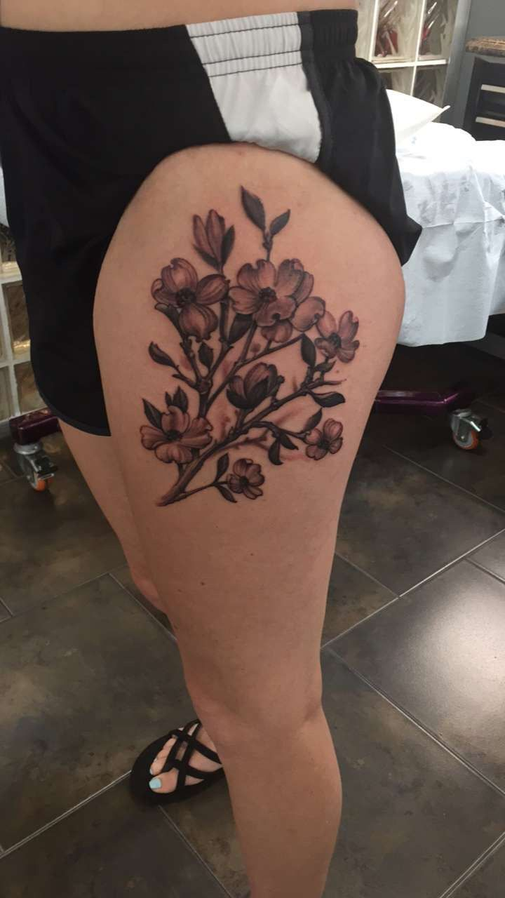 Dogwood Tree Flower Tattoo Tattoos Tattoos And Piercings Leaf Tattoos