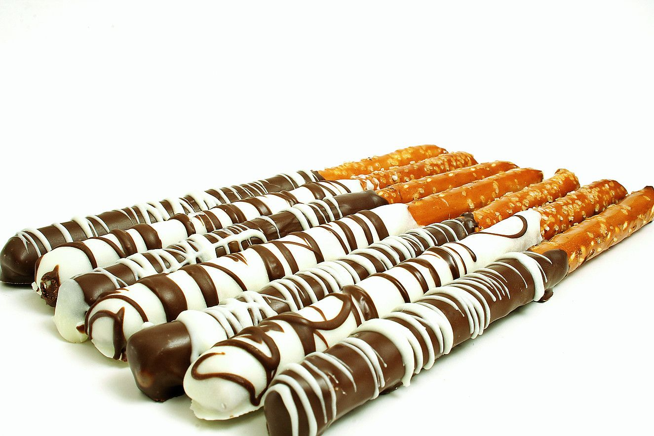 Custom Order Chocolate Dipped Pretzels Weddings, Parties, Favors and ...