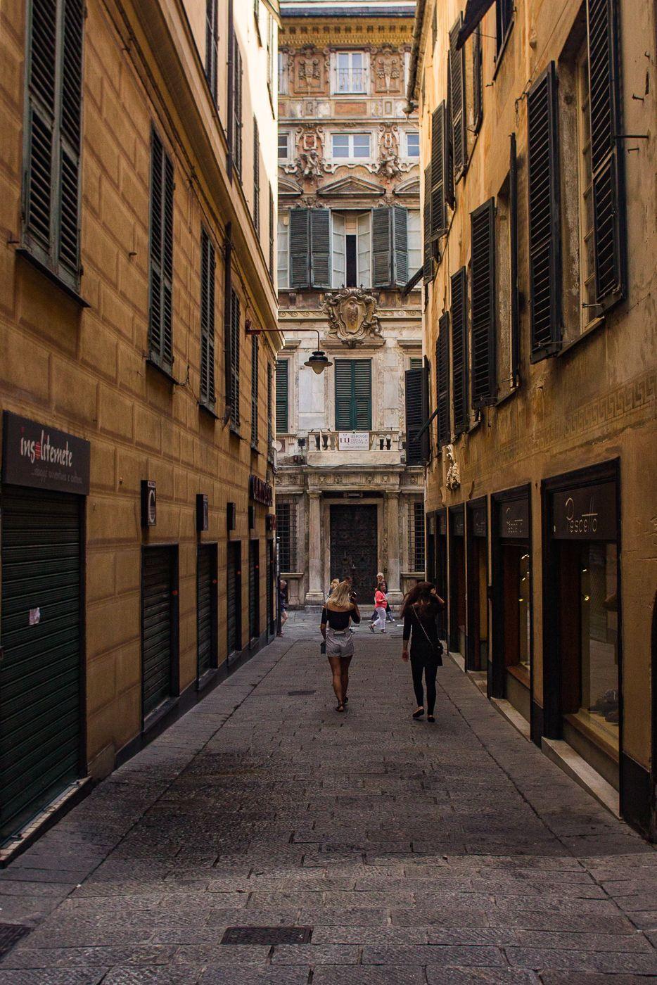 Spianata Castelleto, a viewing platform in Genoa, Italy