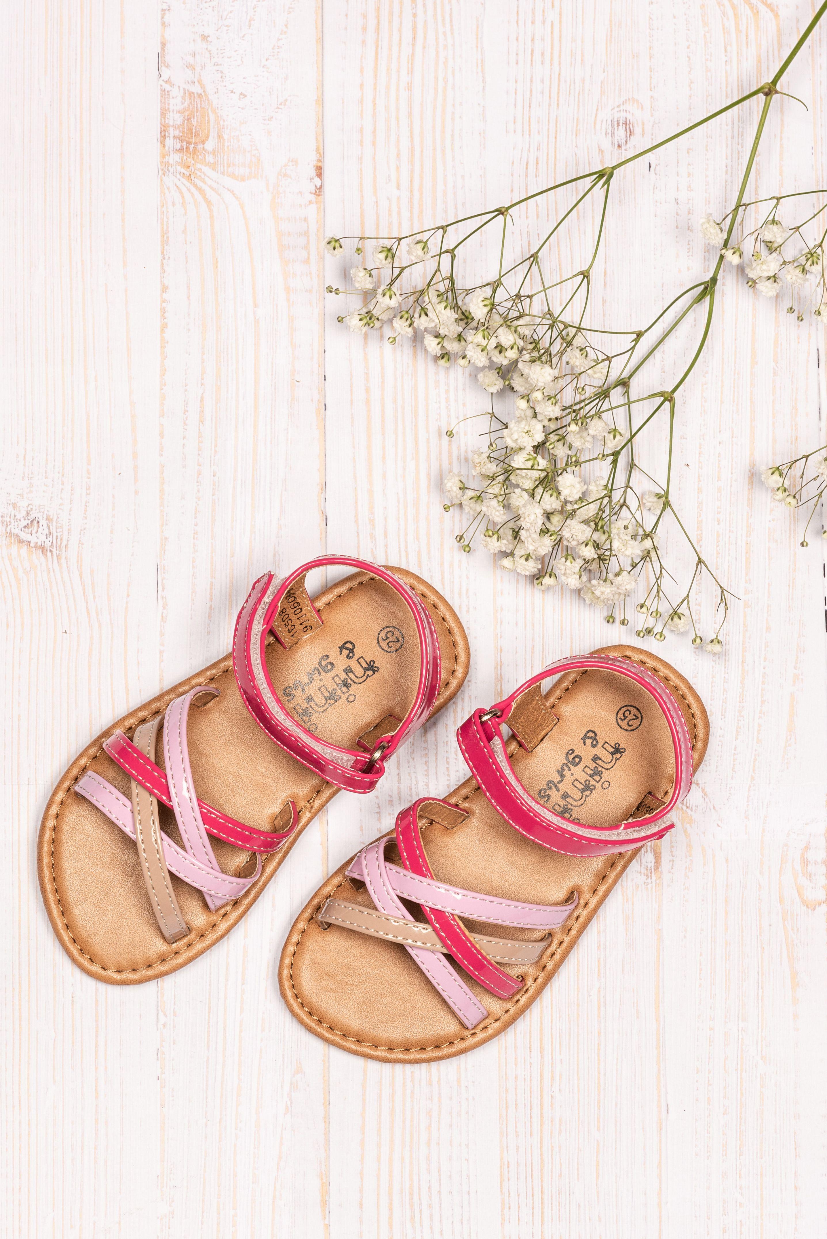 Sandales plates ROSE NINI & GIRLS | Sandales, Sandales