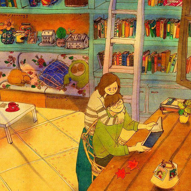Mükemmel Aşkın Küçük Anlarda Saklı Olduğunu Anlatan İçinizi Isıtacak 35 Çizim