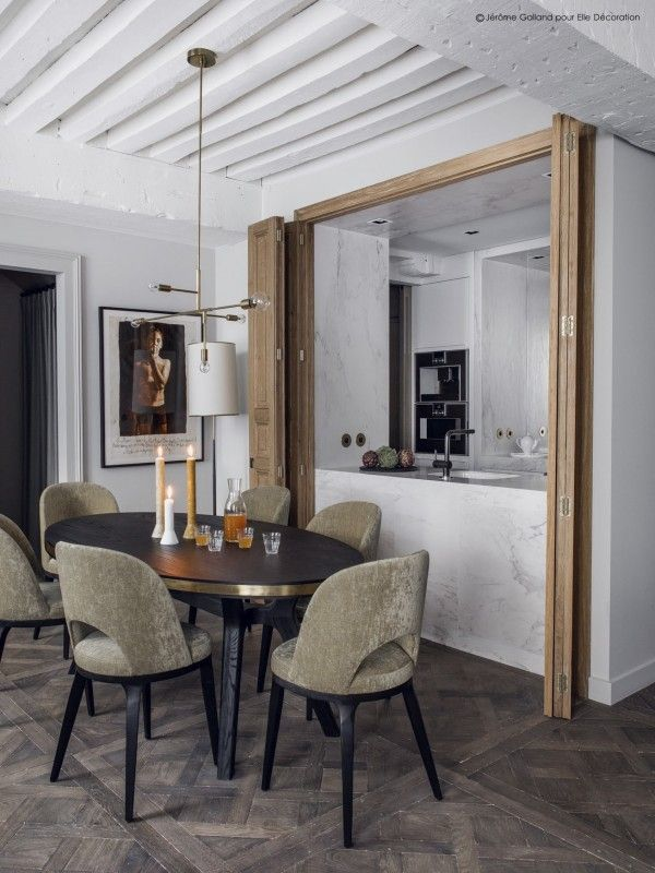A Parisian Apartment With Mix Of Urban Chic Decoration And Rustic Touches Designed