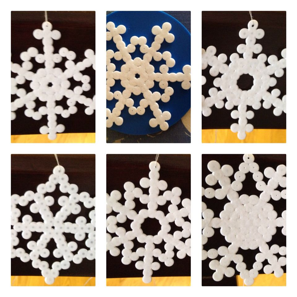 Melted beads snowflakes