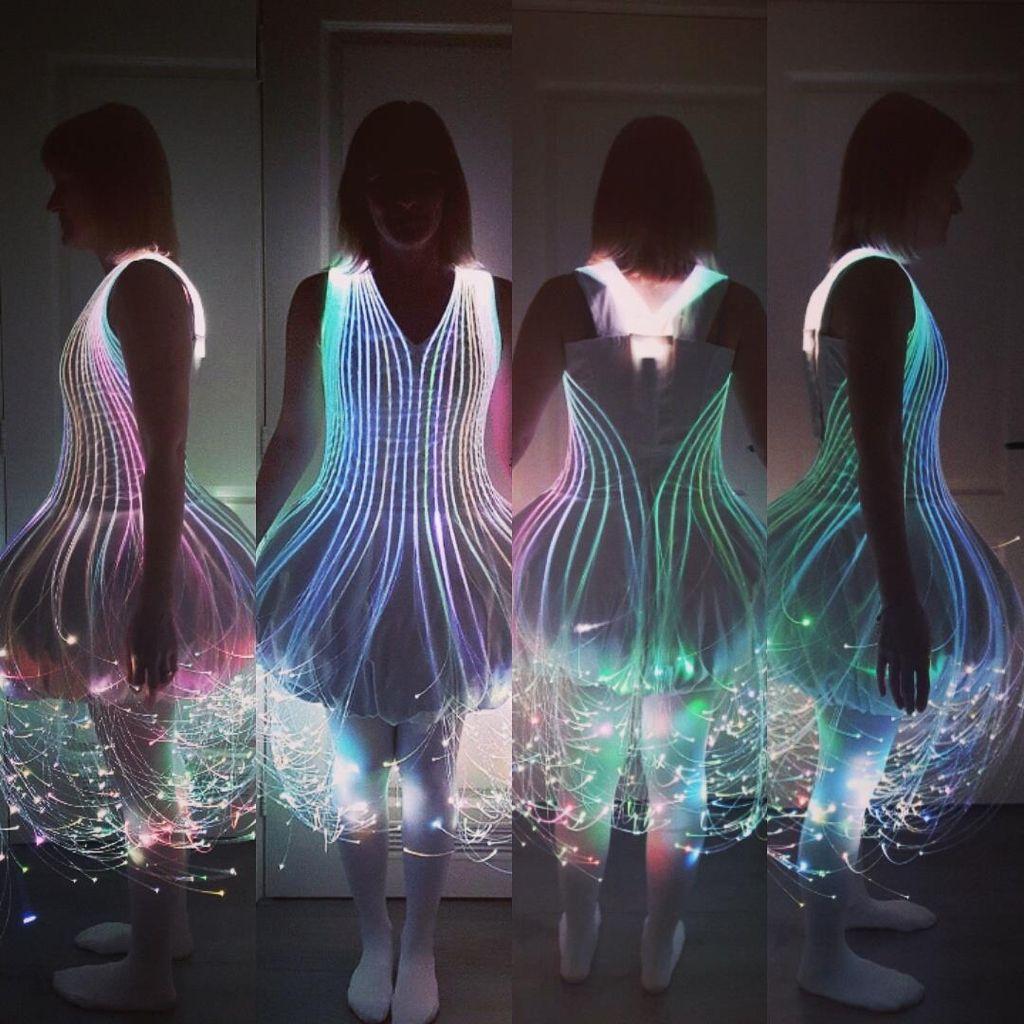 Fiber Optic Dress | Fasching und Basteln