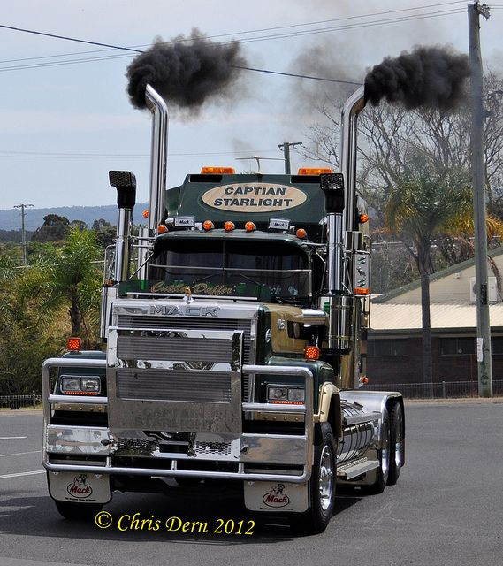 """Mack Truck Rod Before And After: Bicentennial Mack Superliner """"Captain Starlight"""" By"""