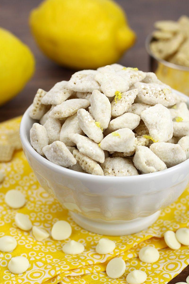 Lemon Puppy Chow Snack Mix The Toasty Kitchen Lemon Puppy Chow Puppy Chow Snack Puppy Chow Snack Mix