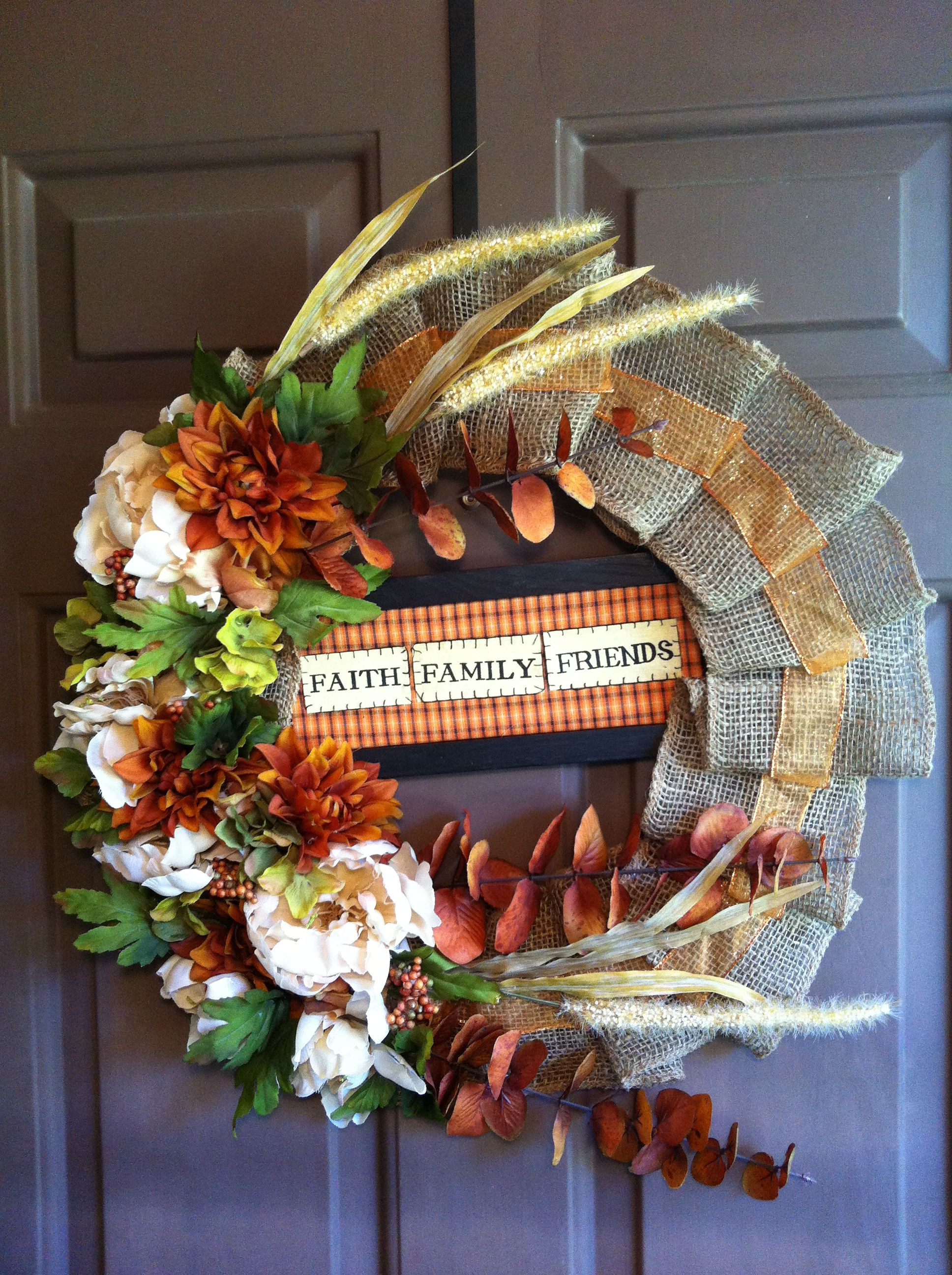 Fall wreath I made yesterday!
