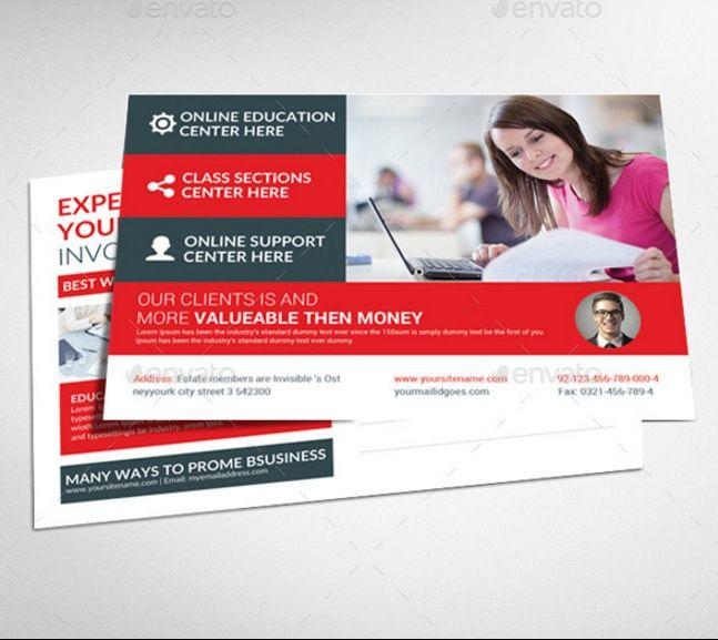 Business Postcard Template PSD InDesign Format Advert Designs - Business postcard template