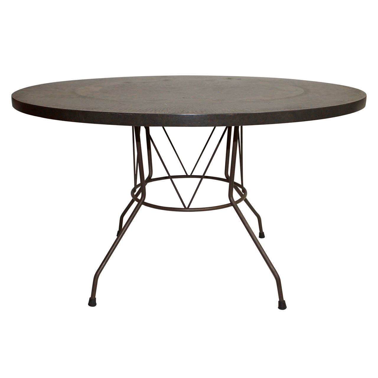 phillip collection furniture. Embossed Copper Laminate Round Table In The Manner Of Phillip Laverne Collection Furniture O