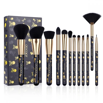 Photo of DOCOLOR GOTH SKULL MAKEUP BRUSH SET (12 PIECE)