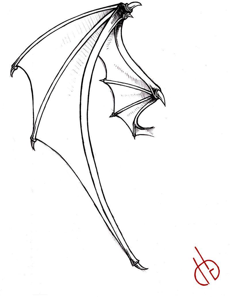 Bat Wings Drawing Bat wing by bakero-ichiban | art illustraions ...
