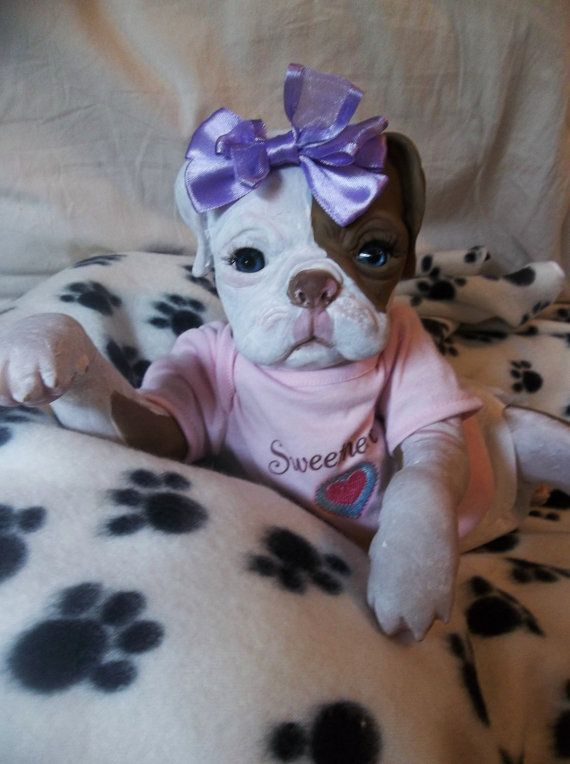 Custom Reborn Puppy Art Dog Doll Princess Via Etsy Dog Doll