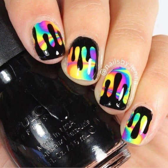 Dripping Tape for Nail Art, Drip Stickers for Nails, Nail Vinyls