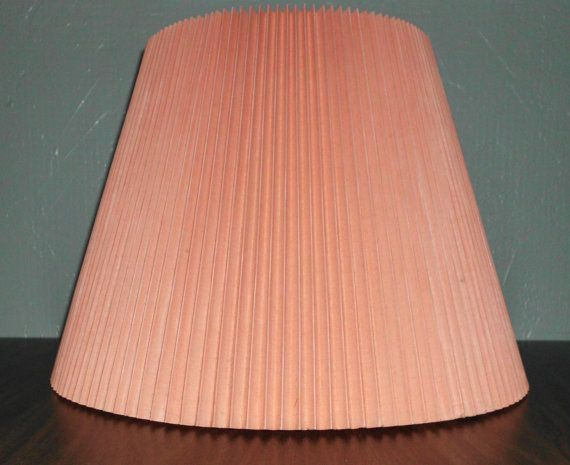 Vintage Lamp Shade Coral Peach Gift For Her Or Him By Jslighting