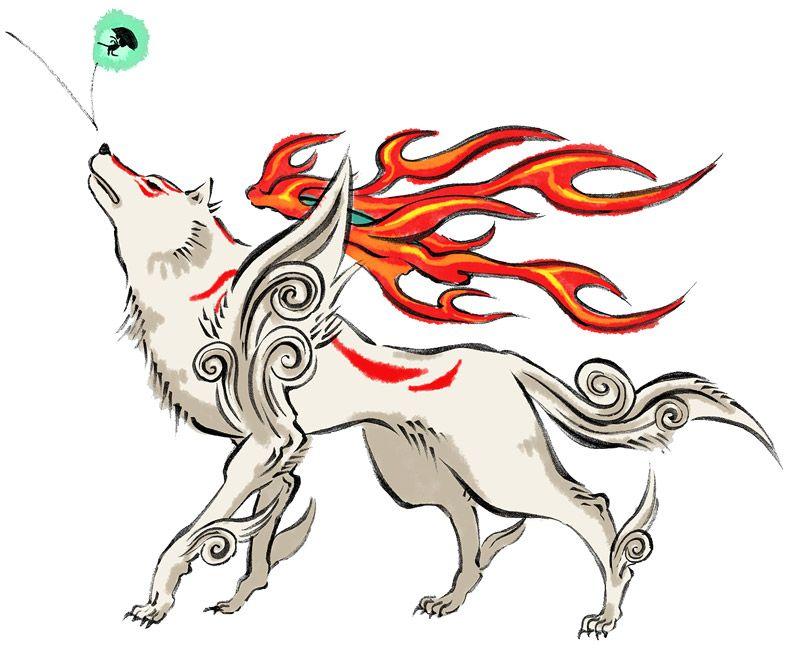 Dogs In Video Games Amaterasu With Images Okami Amaterasu Art