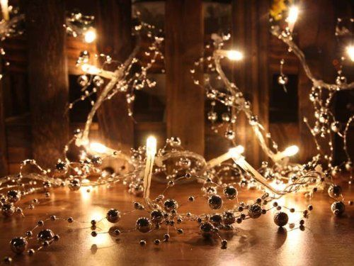 more expensive warm white led string lights with silver beads christmas lights party lights