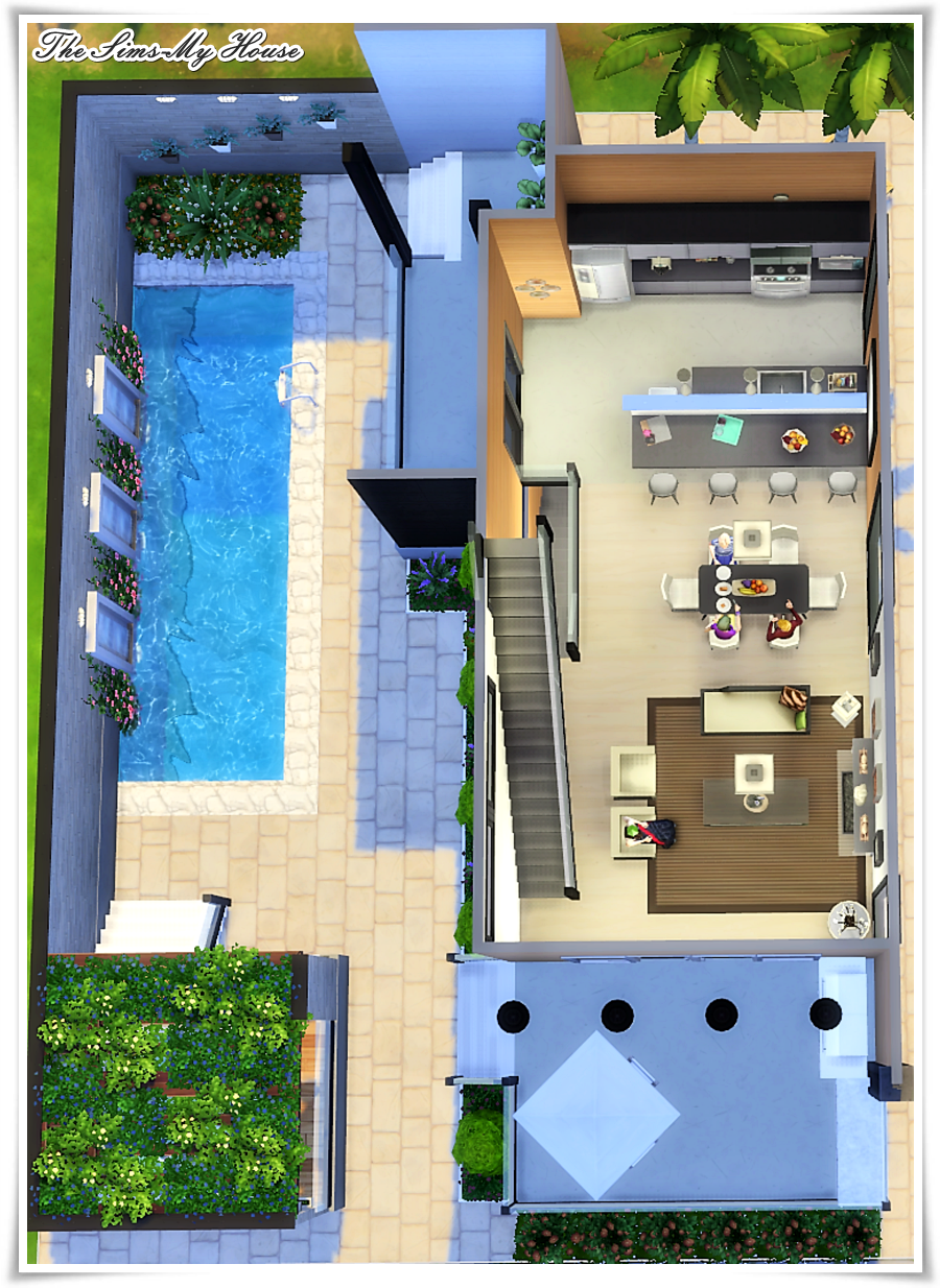 Verdieping Sims Freeplay Casa Amadeirada Contêiner The Sims 4 Sims Freeplay Houses