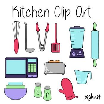 Kitchen Clip Art, Appliances, Baking, Blender, Microwave