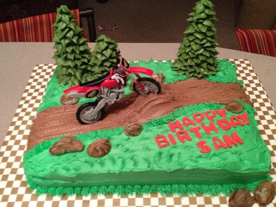 Dirt Bike Cake Cake by Tonya Party cakes Pinterest