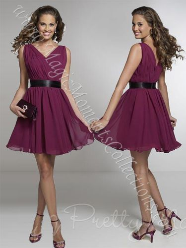 IS-Pretty Maids 22530 Short Bridesmaid Dress   This in coral is our third dress!