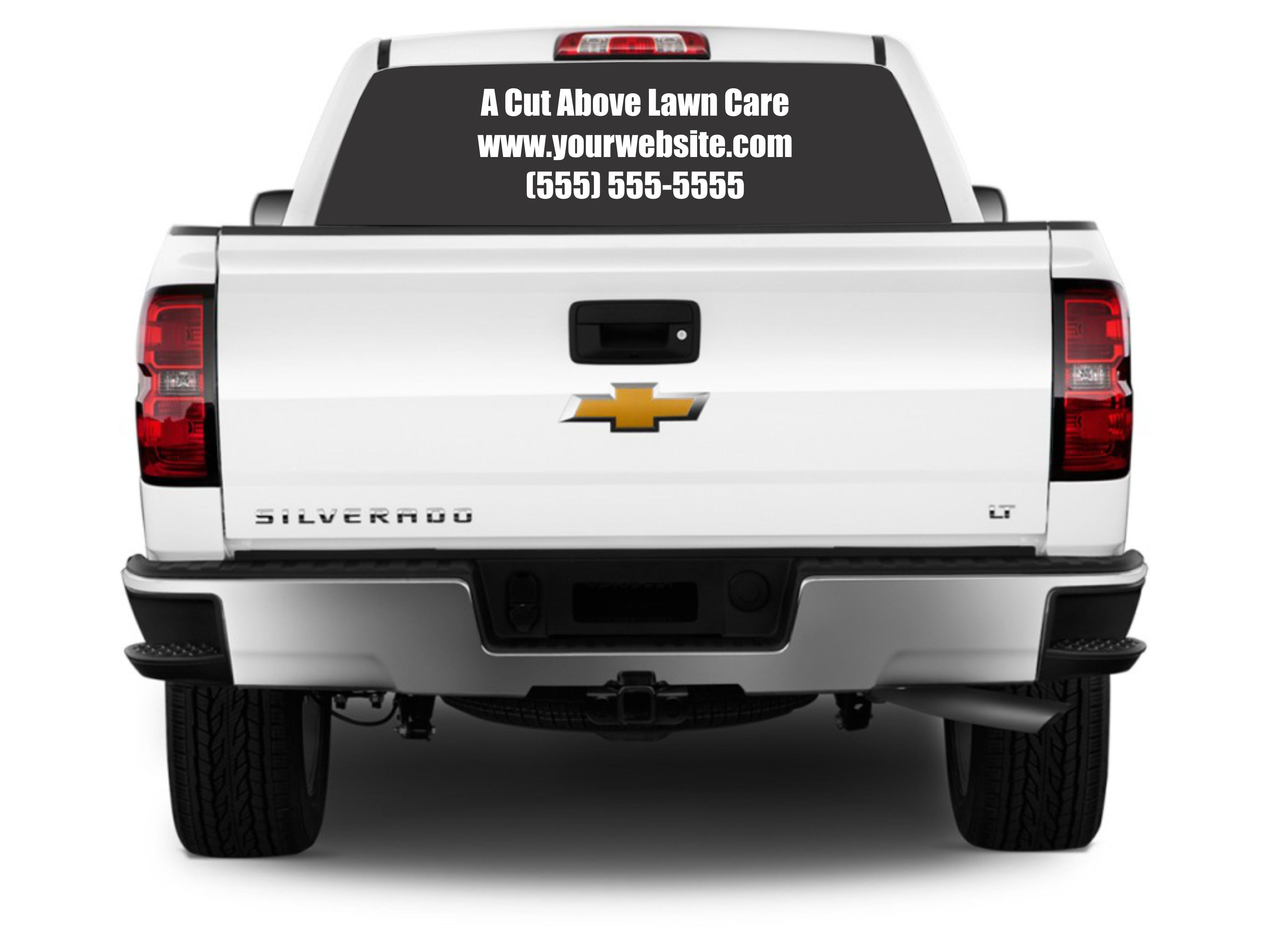 A Cut Above Lawn Care Vinyl Decal Lettering For Lawn Care - Make custom vinyl decals
