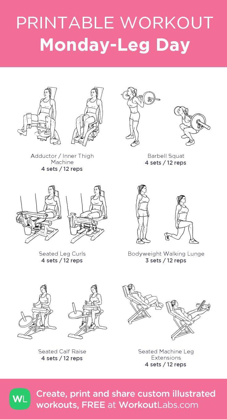 Monday-Leg Day · Free workout by WorkoutLabs Fit