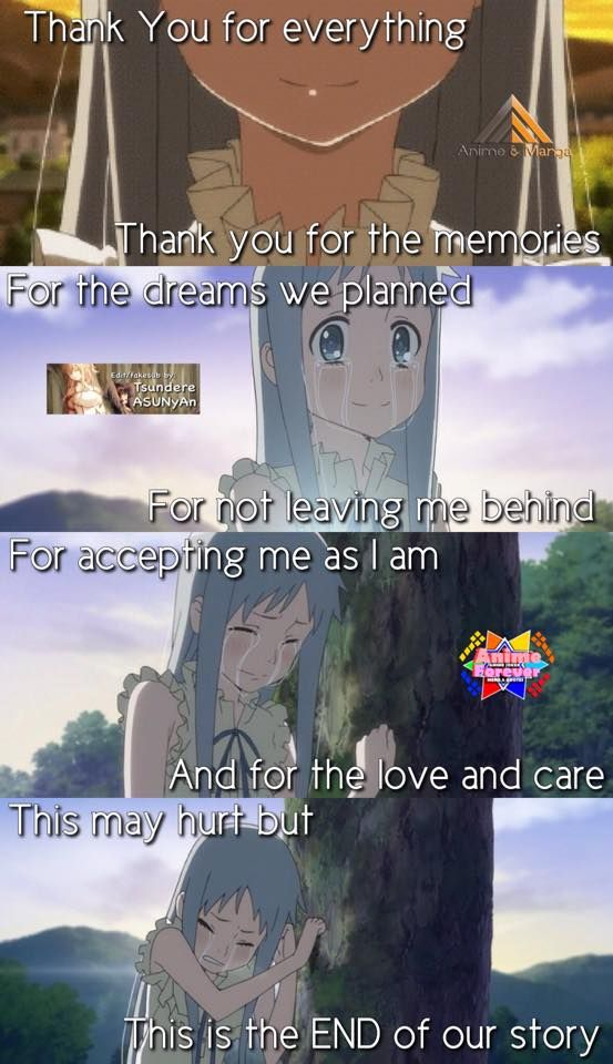 Anohana The Flower We Saw That Day Anime Love Quotes Anime Quotes Inspirational Anime Quotes
