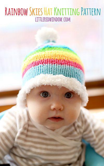 Ravelry: Rainbow Skies Baby Hat pattern by Cassandra May