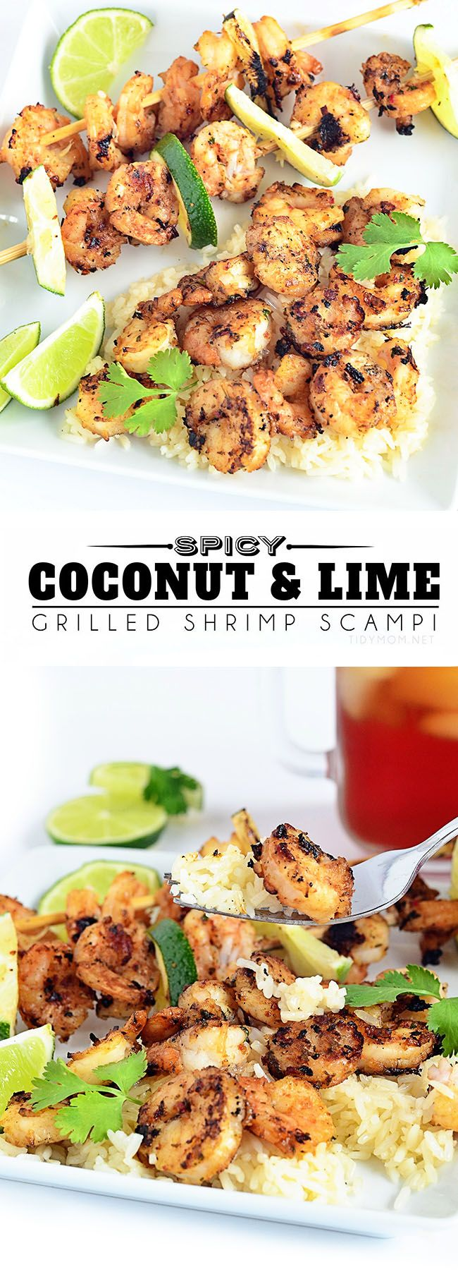 Spicy Coconut & Lime Grilled Shrimp Scampi recipe