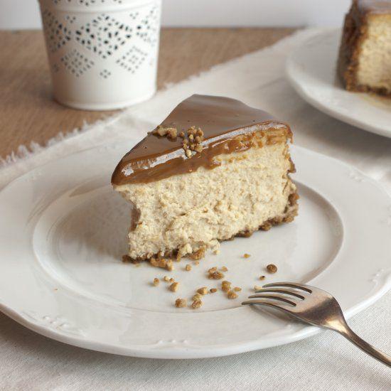 Dulce de leche cheesecake! [in Spanish]