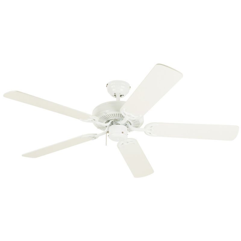 """Westinghouse 7802400 Contractor's Choice 52"""" 5 Blade Hanging Indoor Ceiling Fan White Fans Ceiling Fans Indoor Ceiling Fans"""