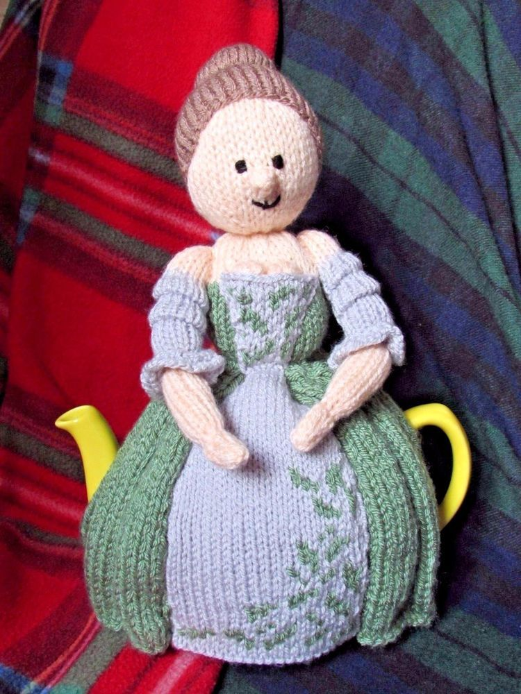 Claire from Outlander Tea Cosy lookilikie One off - ready knitted