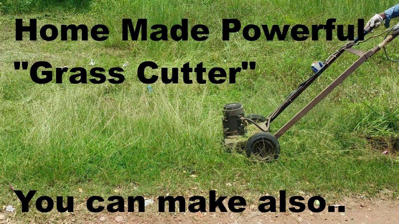 How to Make Grass Cutter Machine || Home made Grass Cutter || How to