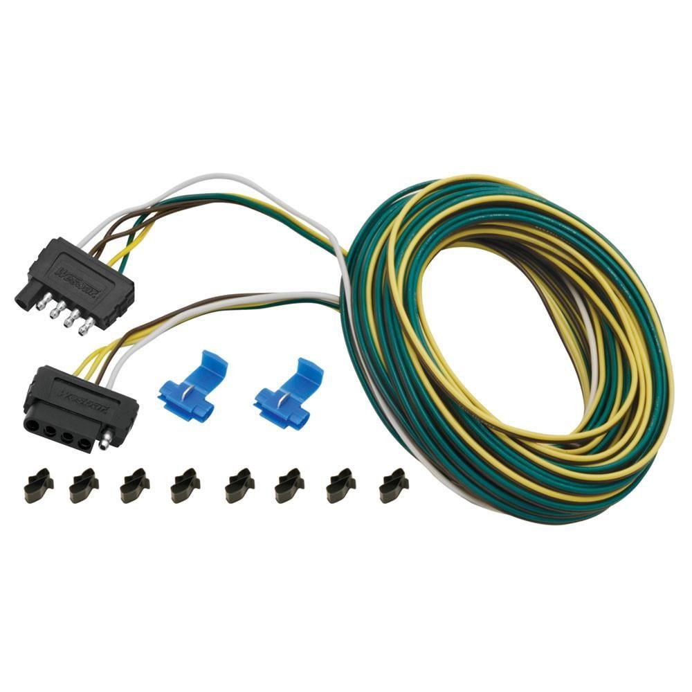 Wesbar 25 ft. 5-Wire Wishbone Flat Wiring Harness Kit ... on
