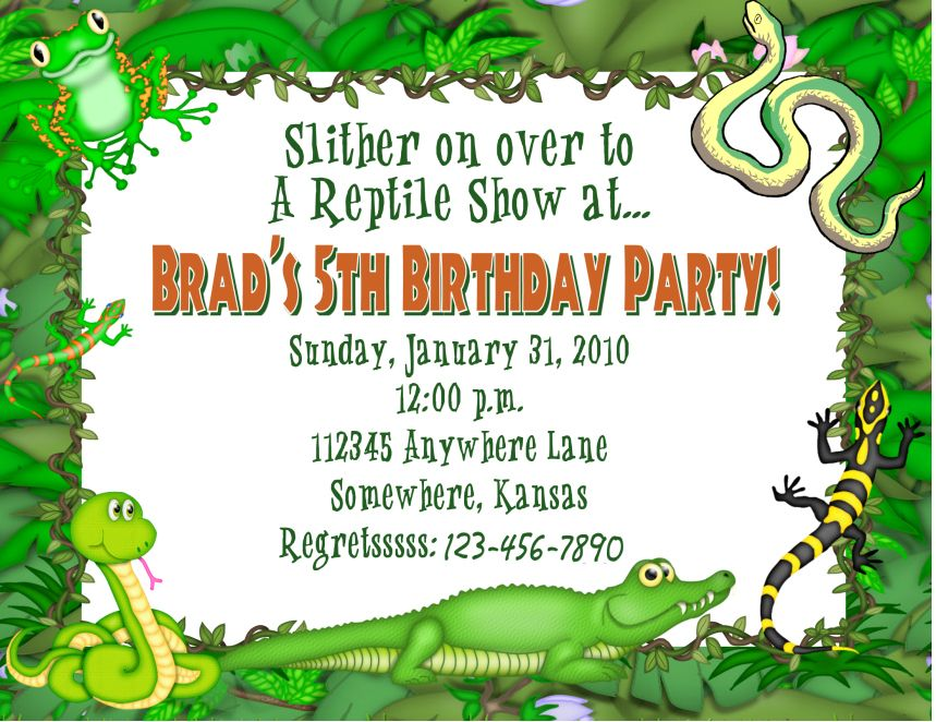 Reptile Invitations Birthday Image collections - coloring pages adult