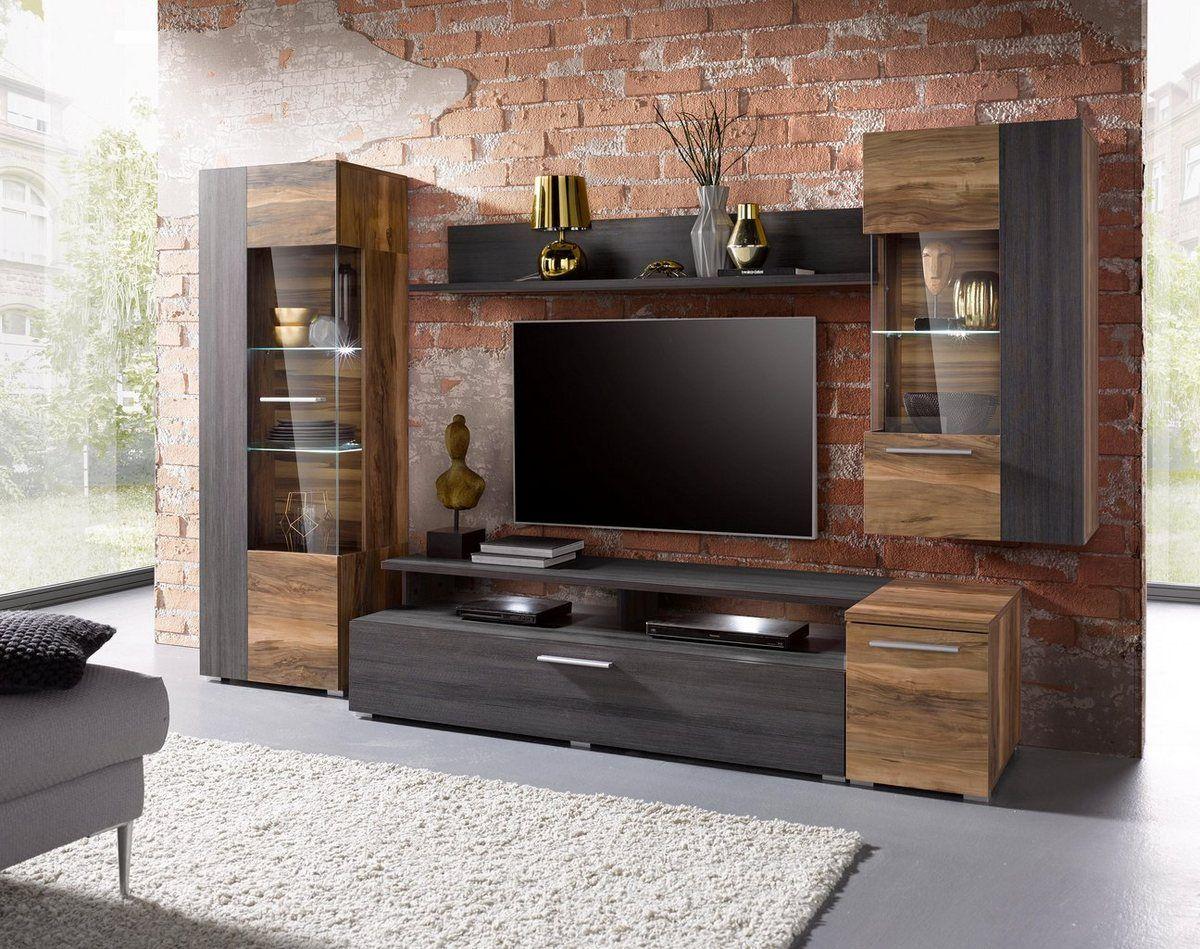 Wohnwand Yvonne Set 5 Tlg Tv Cabinet Wall Design Living Room Design Modern Modern Tv Wall Units
