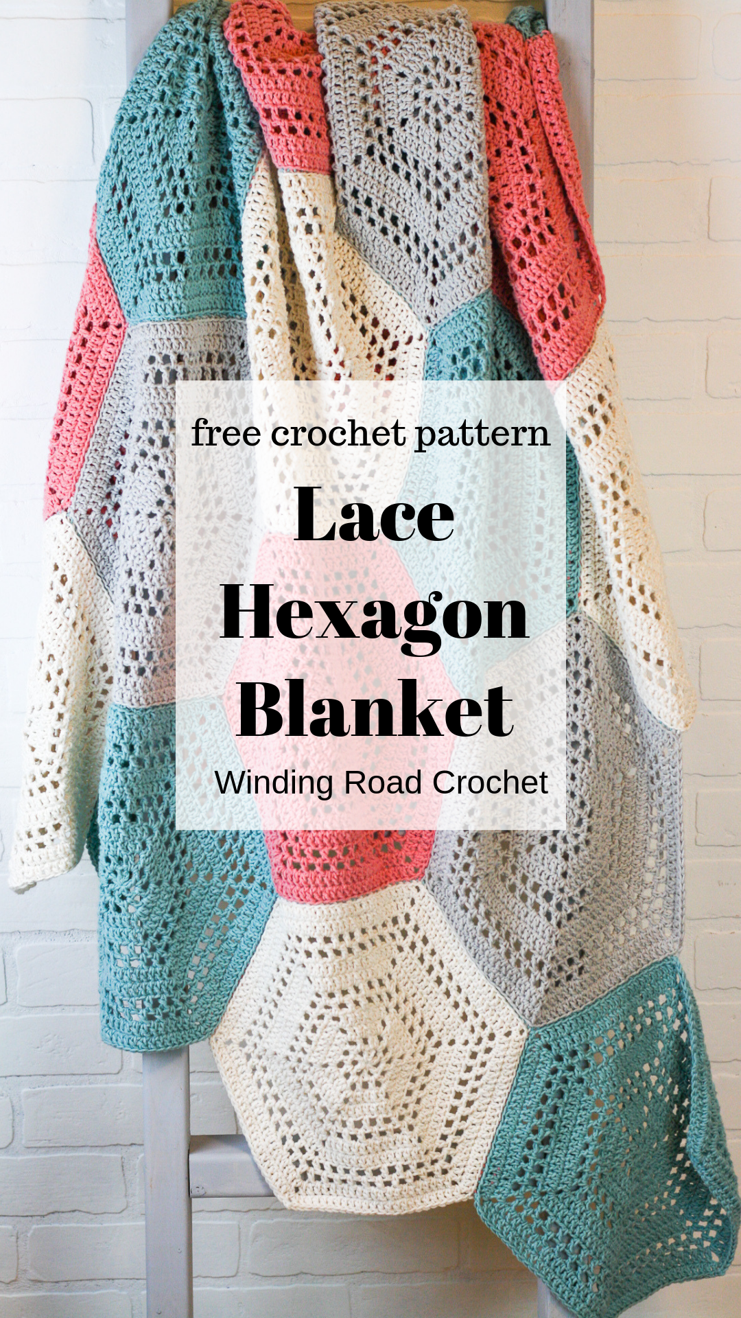 How to Crochet a Hexagon Blanket - Winding Road Crochet