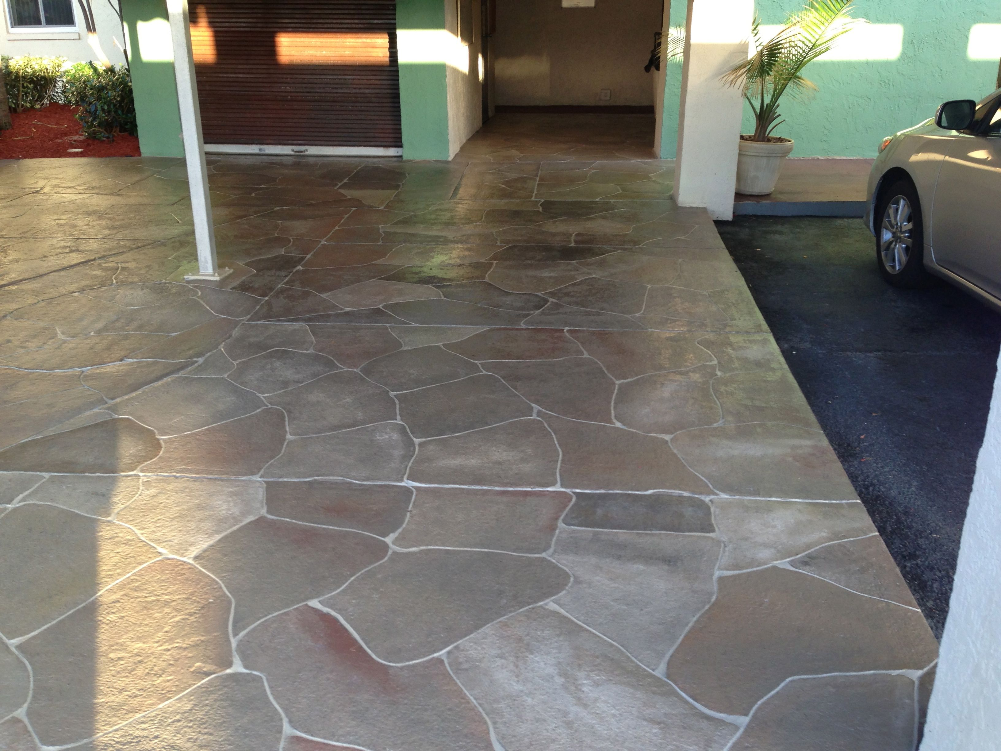 Inspiring Paint Concrete 2 Painted Concrete Patio Designs Paint