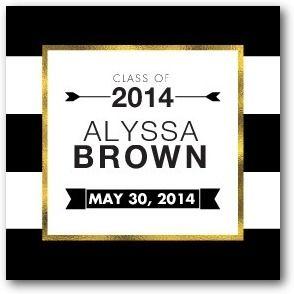 Glamorous Stripes - Custom Gift Tag Stickers in Black or Navy   Magnolia Press