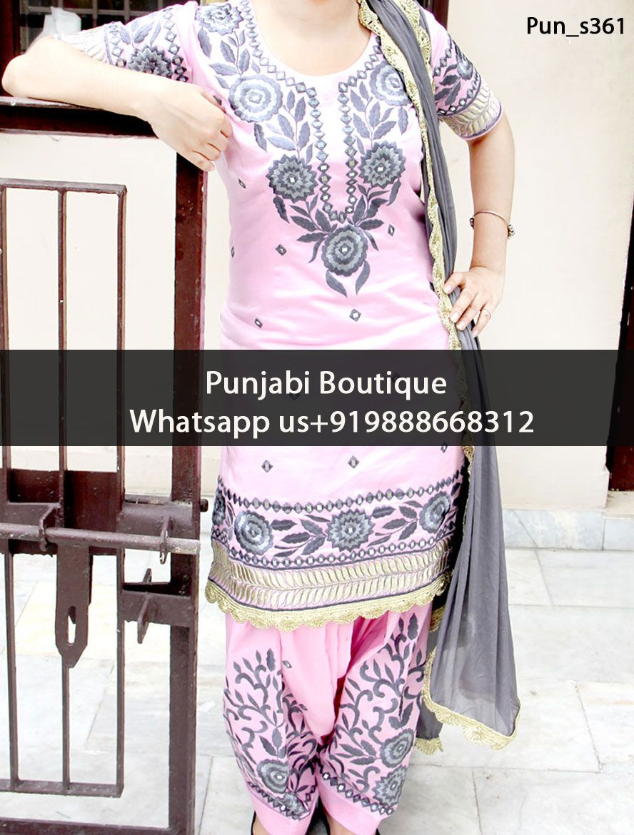 4ce64909e6 Graceful Light Pink Embroidered Punjabi Suit Product Code: Pun_s361 To  order this dress , please call or WhatsApp us at +919888668312 We can  design this ...