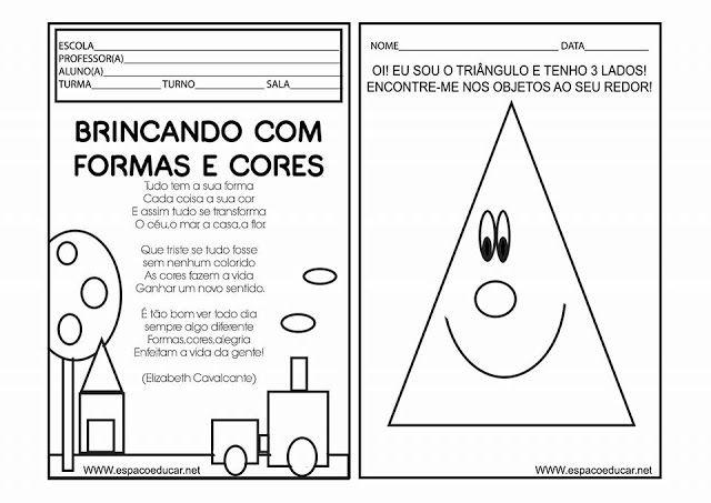 Livrinho Cores E Formas Geometricas Formas Geometricas Educacao