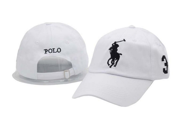 Men s   Women s Polo Ralph Lauren Big Pony Number 3 Strapback Adjustable  Golf Hat - White 4d9aff6aa61